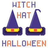 Witch hat halloween set Royalty Free Stock Image