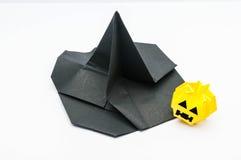 Witch hat and  jack-o'-lantern Stock Photo