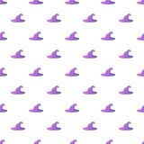 Witch hat pattern, cartoon style Royalty Free Stock Photography