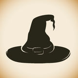 Witch Hat Silhouette Royalty Free Stock Image
