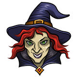 Witch in hat Royalty Free Stock Image