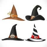 Witch hat with straps and buckles Stock Photos