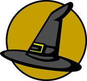 Witch hat vector illustration. Vector illustration of a witch hat Stock Photo