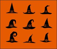 Witch hats Royalty Free Stock Photos