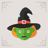 Witch Head icon vector Royalty Free Stock Photos