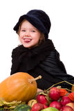 Witch and her harvest Stock Photos