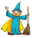 A witch holding a broom Royalty Free Stock Photos