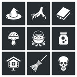 Witch icons. Vector Illustration. Royalty Free Stock Images
