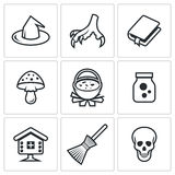 Witch icons. Vector Illustration. Stock Photo