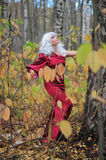 Witch In The Woods On Halloween Stock Photos