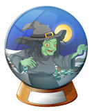 A witch inside the crystal ball Royalty Free Stock Photos