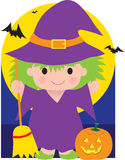 Witch Kid Stock Photo