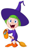 Witch kid Royalty Free Stock Photo
