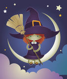 Witch kid illustration Royalty Free Stock Image