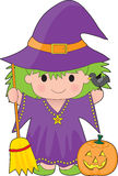 Witch Kid Isolated Royalty Free Stock Images