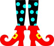 Witch Legs. The  Witch Legs is vector illustration Royalty Free Stock Photography