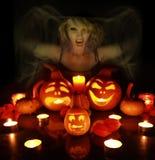 Witch macking triks Stock Photo