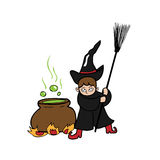Witch magic pot Stock Photos