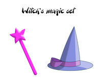 Witch magic set Royalty Free Stock Photos