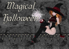 Witch Magical Halloween Background Royalty Free Stock Image
