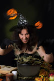 Witch making magic Royalty Free Stock Photo
