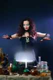 Witch making potion Royalty Free Stock Images