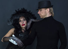 Witch and Mephistopheles Stock Photo