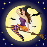 Witch midnight Royalty Free Stock Images