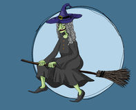 Witch at night Royalty Free Stock Images