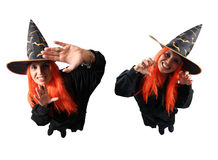 Witch no-spell and spell Stock Photography