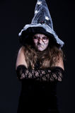 Witch over dark background Stock Photo