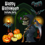 Witch party costumes for happy Halloween Royalty Free Stock Images