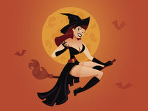 Witch pinup Stock Photography