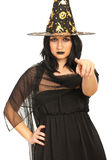 Witch pointing to you Stock Images