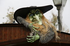 Witch in Port Aventura, halloween, Katoloniya, Spain Royalty Free Stock Images