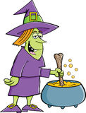 Witch with a pot Stock Photos