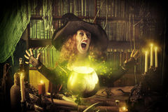 Witch pot Stock Images