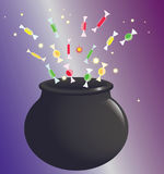 Witch pot Royalty Free Stock Image