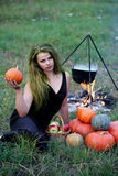 Witch potion boils Stock Photography