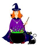 Witch and the potion Royalty Free Stock Photography