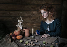 Witch preparing potion Royalty Free Stock Photo