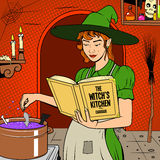 Witch preparing a potion vector illustration Stock Photo