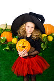 Witch and pumpkin Stock Photos