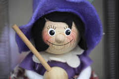 Witch puppet for sale, Budapest Hungary Stock Images