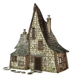 Witch's cottage 1. 3D render of an old cottage Stock Image