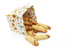 Witch's finger cookies Royalty Free Stock Images