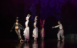 """The witch's prophecy- ballet """"One Thousand and One Nights"""" Royalty Free Stock Photo"""