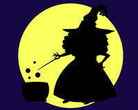 A witch's shadow Royalty Free Stock Photo
