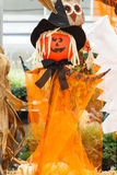 Witch Scarecrow Halloween Stock Image