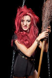 Witch with scary expression.. Royalty Free Stock Photography